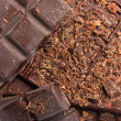 Chocolate as sweet food background — Foto Stock