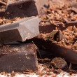 Foto Stock: Chocolate mix as sweet food background