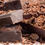 mezcla de chocolate como fondo de alimentos dulces — Foto de Stock