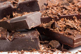 Chocolate mix as sweet food background — Stock Photo