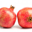 Two pomegranates on white — Stock Photo