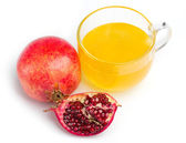 Pomegranate and honey in a cup of glass — Stock Photo