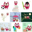 Vector de stock : Owl love story