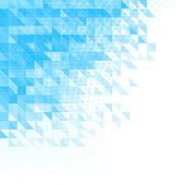 Abstrait bleu avec des triangles, des carrés et des lignes — Vecteur