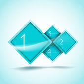 Aqua rhombus alternativ banner — Stockvektor