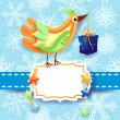 Bird with gift — Stock Vector
