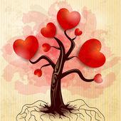 Ağaç kalpárbol de corazones — Vector de stock