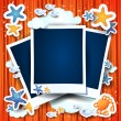 Holidays background with photo frames - Imagen vectorial