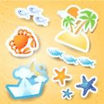 Holidays on the beach, vector icons — Stock Vector #22157107