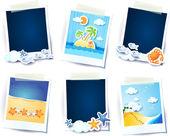Holidays memories, elements — Stock Vector