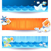 Holidays banners — Stock Vector