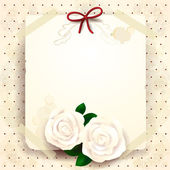 Romantic background with roses — Vettoriale Stock