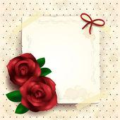 ロマンチックなバラの背景 — ストックベクタ