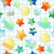 Paper stars, seamless background — Stock Vector