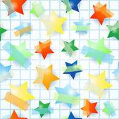 Estrellas de papel, fondo transparente — Vector de stock