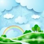 Countryside, fantasy illustration — Stock Vector