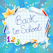 School background with bubble — Stock Vector