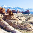 Arches National Park with La Sal Mountains, Utah, USA — Stock Photo #13585032