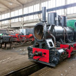 Steam locomotives in depot, Kostolac, Serbia — Stock Photo #13585192