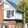 Stock Photo: Railway museum and railway station, Heckington, East Midlands, England