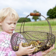 Royalty-Free Stock Photo: Little girl with basket of mushrooms