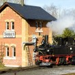 Steam locomotive, Steinbach - Jöhstadt, Germany — Stock Photo