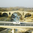 Pont Julien with the new road bridge - Stok fotoraf