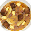 Stock Photo: PeSoup with Croutons