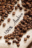 Still life of coffee beans — Stock Photo