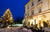 Nove Mesto nad Metuji at Christmas, Czech Republic — Stock Photo