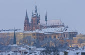 Hradcany in winter, Prague, Czech Republic — Stock Photo