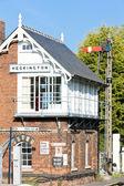 Railway museum and railway station, Heckington, East Midlands, England — Stock Photo
