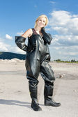 Woman wearing protective clothes — Stock Photo