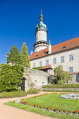 Castle of Nove Mesto nad Metuji with garden, Czech Republic — Stock Photo