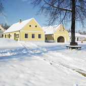 Holasovice in winter, Czech Republic — Stock Photo