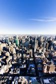 Vista di manhattan dall'empire state building, new york city, stati uniti — Foto Stock