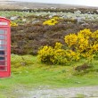 Telephone booth and letter box near Laid, Scotland — Stock Photo #14120026