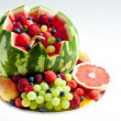 Fruit salad in water melon — Stock Photo #14120068