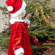 Little girl as Santa Claus — Stockfoto