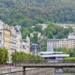 Karlsbad (Karlovy Vary) in Czech Republic. - Stock Photo