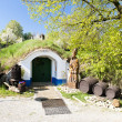 Stock Photo: Wine cellars, Petrov - Plze, Czech Republic