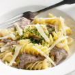 Stock Photo: Pasta with beef meat
