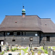 Wooden church in Slavonov, Czech Republic - Foto Stock