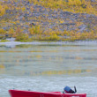 River and a boat scene during Fall season — Stock Photo #14120520