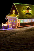 Houses in winter at Christmas time, Czech Republic — Stock Photo