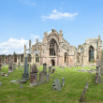 Ruins of Melrose Abbey, Scottish Borders, Scotland — Stock Photo #14936663