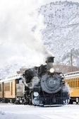 Durango och silverton smalspårig järnväg, colorado, usa — Stockfoto