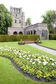 ケルソー修道院、スコットランドのボーダー、スコットランドの遺跡 — ストック写真