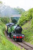 Steam train, Bo'Ness Kinneil Railway, Lothians, Scotland — Stock Photo