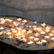 Candles in church — Stock fotografie